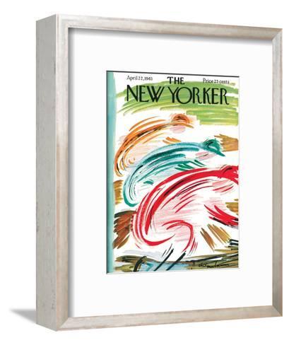 The New Yorker Cover - April 22, 1961-Abe Birnbaum-Framed Art Print
