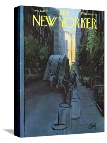 The New Yorker Cover - June 17, 1961-Arthur Getz-Stretched Canvas Print
