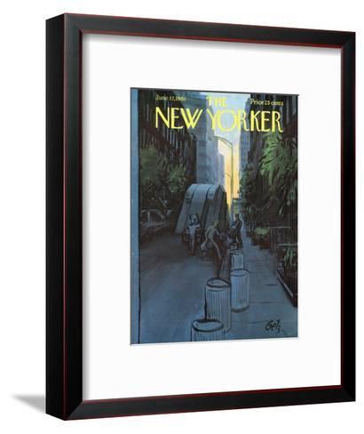 The New Yorker Cover - June 17, 1961-Arthur Getz-Framed Art Print