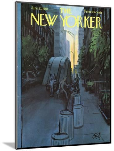The New Yorker Cover - June 17, 1961-Arthur Getz-Mounted Premium Giclee Print