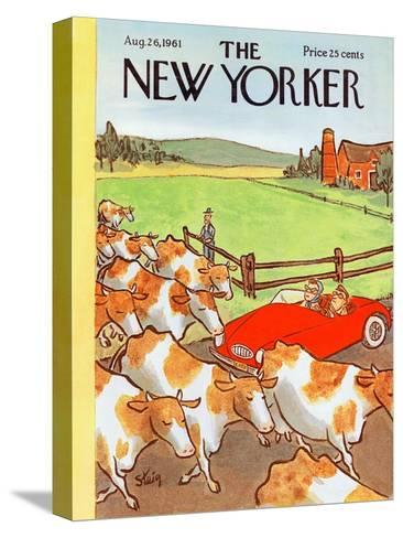 The New Yorker Cover - August 26, 1961-William Steig-Stretched Canvas Print