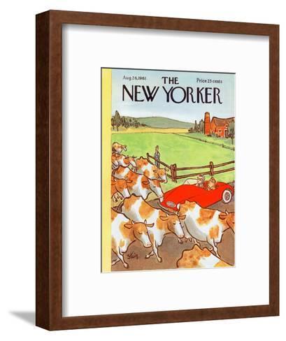 The New Yorker Cover - August 26, 1961-William Steig-Framed Art Print