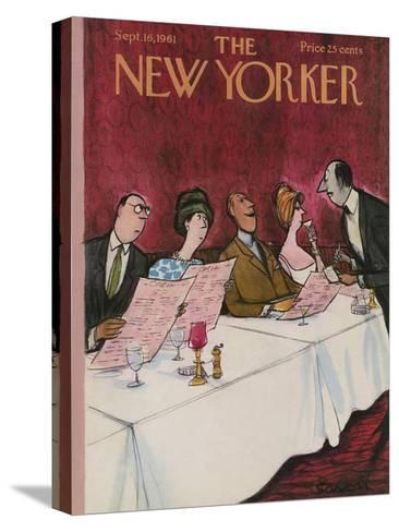 The New Yorker Cover - September 16, 1961-Charles Saxon-Stretched Canvas Print