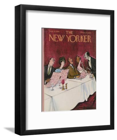 The New Yorker Cover - September 16, 1961-Charles Saxon-Framed Art Print