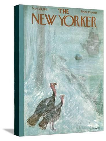The New Yorker Cover - November 25, 1961-Frank Modell-Stretched Canvas Print