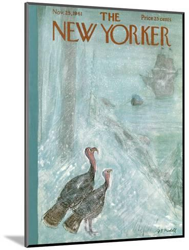 The New Yorker Cover - November 25, 1961-Frank Modell-Mounted Premium Giclee Print