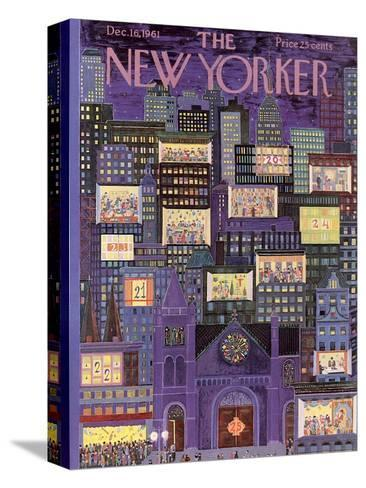 The New Yorker Cover - December 16, 1961-Ilonka Karasz-Stretched Canvas Print