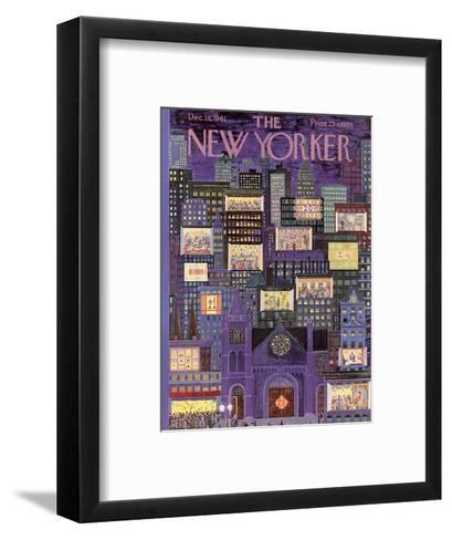 The New Yorker Cover - December 16, 1961-Ilonka Karasz-Framed Art Print