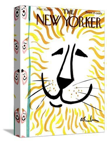 The New Yorker Cover - March 30, 1963-Abe Birnbaum-Stretched Canvas Print