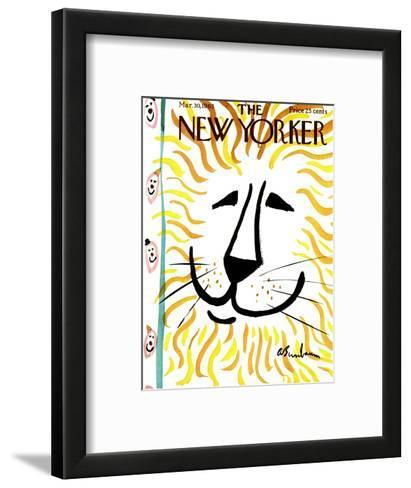 The New Yorker Cover - March 30, 1963-Abe Birnbaum-Framed Art Print