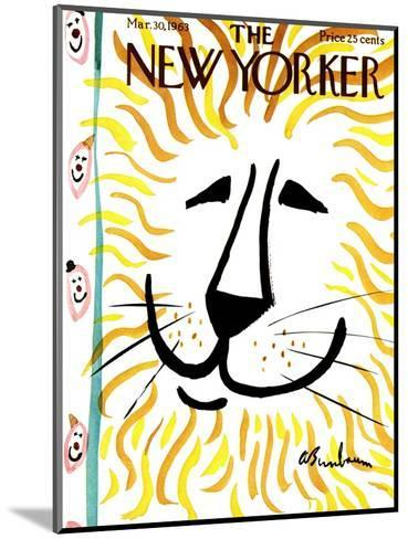 The New Yorker Cover - March 30, 1963-Abe Birnbaum-Mounted Premium Giclee Print
