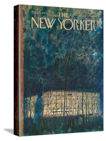 The New Yorker Cover - February 29, 1964-Garrett Price-Stretched Canvas Print
