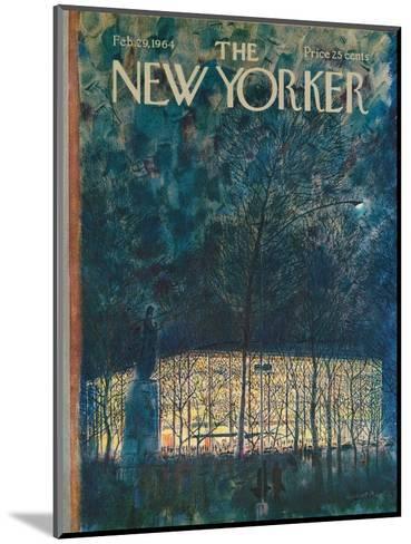 The New Yorker Cover - February 29, 1964-Garrett Price-Mounted Premium Giclee Print