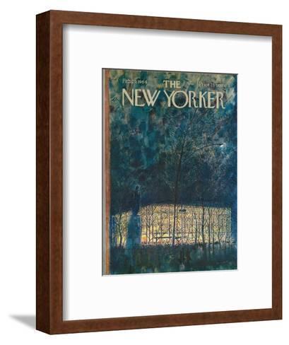 The New Yorker Cover - February 29, 1964-Garrett Price-Framed Art Print