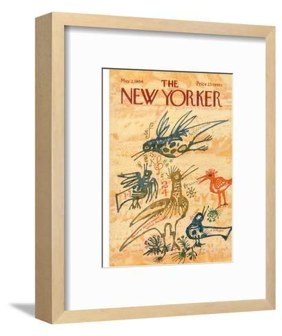 The New Yorker Cover - May 2, 1964-Joseph Low-Framed Art Print