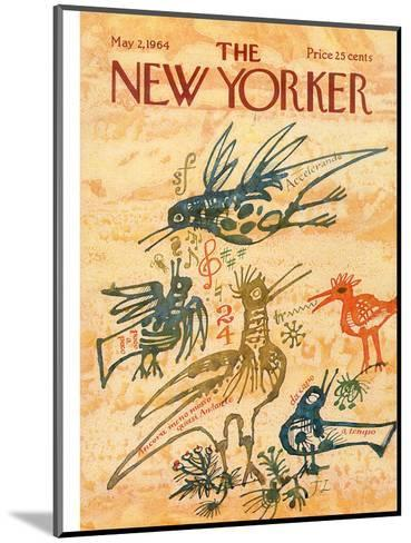 The New Yorker Cover - May 2, 1964-Joseph Low-Mounted Premium Giclee Print