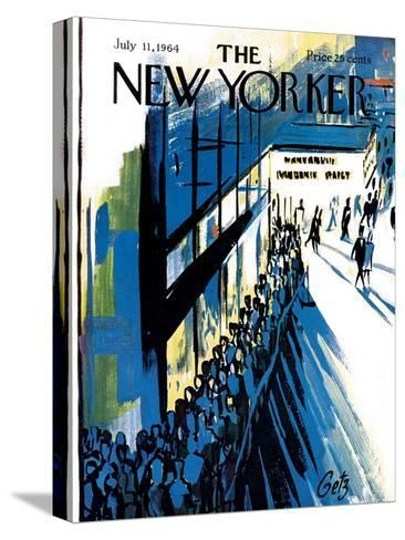 The New Yorker Cover - July 11, 1964-Arthur Getz-Stretched Canvas Print