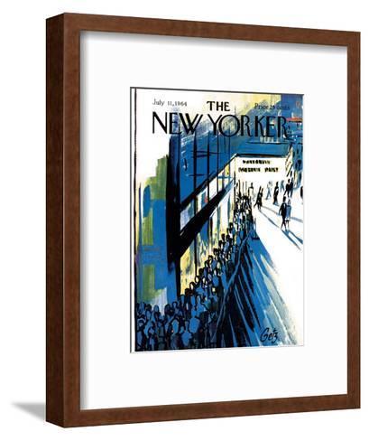 The New Yorker Cover - July 11, 1964-Arthur Getz-Framed Art Print