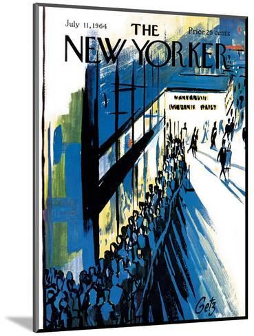 The New Yorker Cover - July 11, 1964-Arthur Getz-Mounted Premium Giclee Print