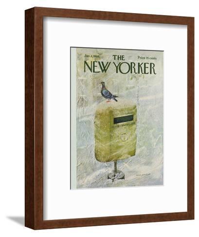 The New Yorker Cover - January 8, 1966-Laura Jean Allen-Framed Art Print