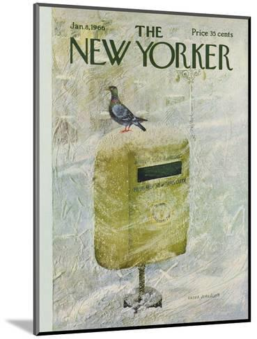The New Yorker Cover - January 8, 1966-Laura Jean Allen-Mounted Premium Giclee Print