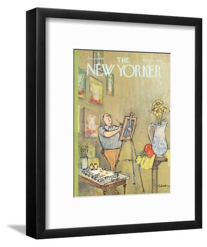The New Yorker Cover - January 15, 1966-Charles Saxon-Framed Art Print
