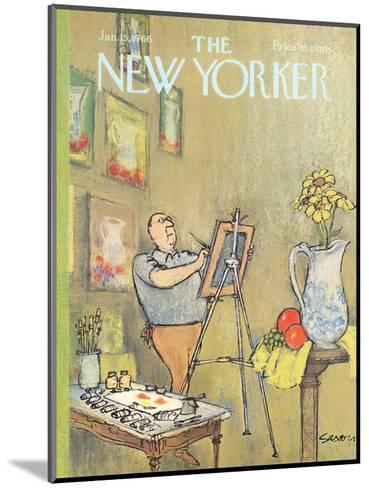 The New Yorker Cover - January 15, 1966-Charles Saxon-Mounted Premium Giclee Print