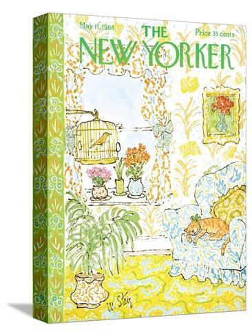 The New Yorker Cover - May 11, 1968-William Steig-Stretched Canvas Print