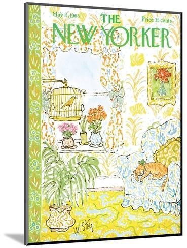 The New Yorker Cover - May 11, 1968-William Steig-Mounted Premium Giclee Print