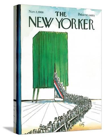 The New Yorker Cover - November 2, 1968-Arthur Getz-Stretched Canvas Print