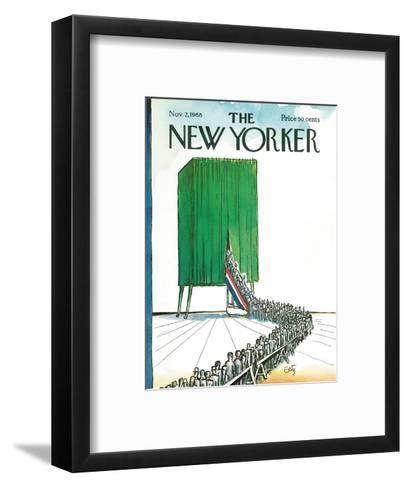 The New Yorker Cover - November 2, 1968-Arthur Getz-Framed Art Print