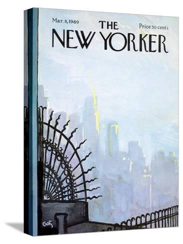 The New Yorker Cover - March 8, 1969-Arthur Getz-Stretched Canvas Print