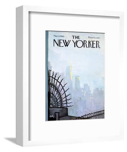 The New Yorker Cover - March 8, 1969-Arthur Getz-Framed Art Print