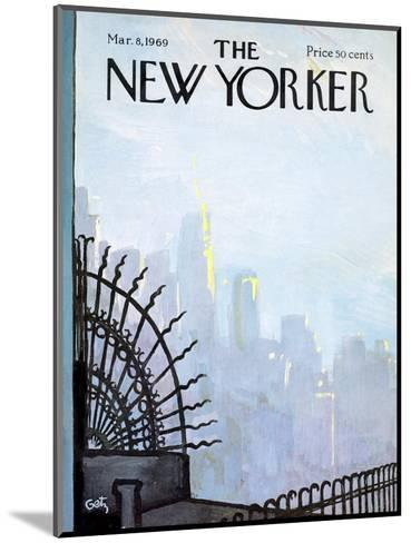 The New Yorker Cover - March 8, 1969-Arthur Getz-Mounted Premium Giclee Print
