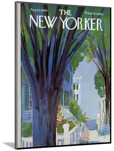 The New Yorker Cover - August 30, 1969-Arthur Getz-Mounted Premium Giclee Print