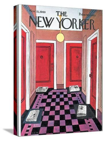 The New Yorker Cover - November 15, 1969-Charles E. Martin-Stretched Canvas Print