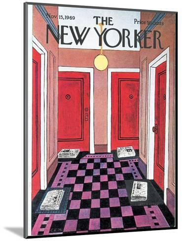The New Yorker Cover - November 15, 1969-Charles E. Martin-Mounted Premium Giclee Print