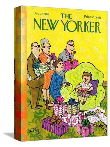 The New Yorker Cover - December 27, 1969-William Steig-Stretched Canvas Print