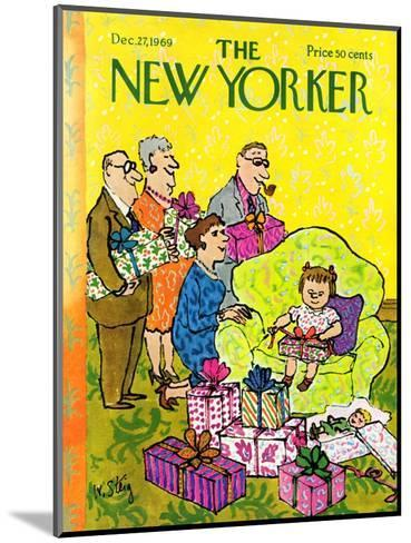The New Yorker Cover - December 27, 1969-William Steig-Mounted Premium Giclee Print
