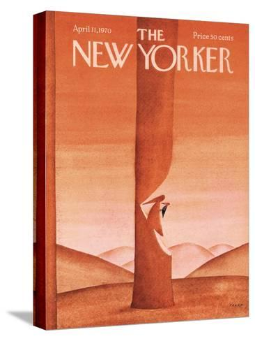 The New Yorker Cover - April 11, 1970-Jean Michel Folon-Stretched Canvas Print