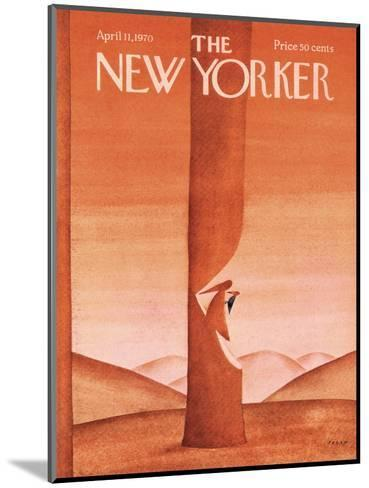 The New Yorker Cover - April 11, 1970-Jean Michel Folon-Mounted Premium Giclee Print