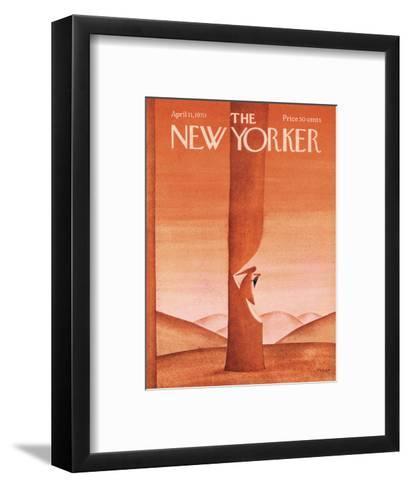 The New Yorker Cover - April 11, 1970-Jean Michel Folon-Framed Art Print