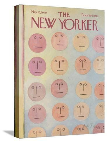 The New Yorker Cover - May 16, 1970-Andre Francois-Stretched Canvas Print