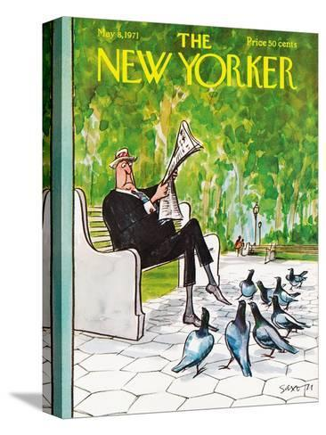 The New Yorker Cover - May 8, 1971-Charles Saxon-Stretched Canvas Print
