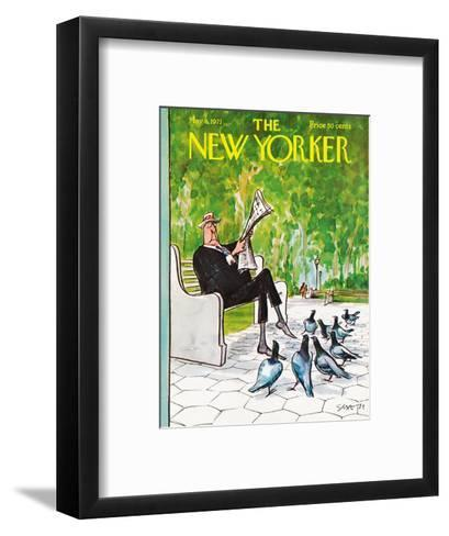 The New Yorker Cover - May 8, 1971-Charles Saxon-Framed Art Print