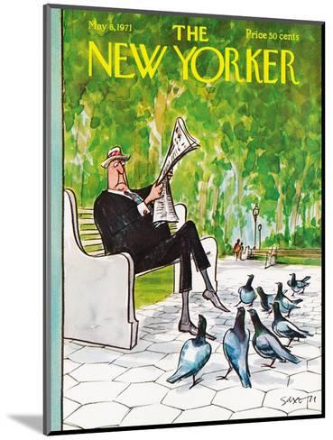 The New Yorker Cover - May 8, 1971-Charles Saxon-Mounted Premium Giclee Print