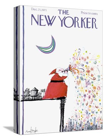 The New Yorker Cover - December 25, 1971-Ronald Searle-Stretched Canvas Print