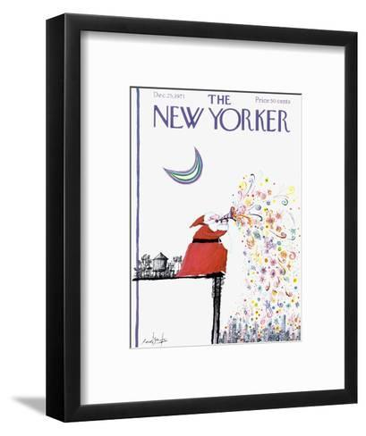 The New Yorker Cover - December 25, 1971-Ronald Searle-Framed Art Print