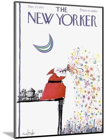 The New Yorker Cover - December 25, 1971-Ronald Searle-Mounted Premium Giclee Print