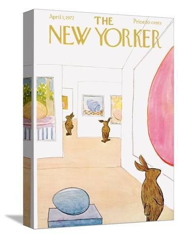 The New Yorker Cover - April 1, 1972-James Stevenson-Stretched Canvas Print